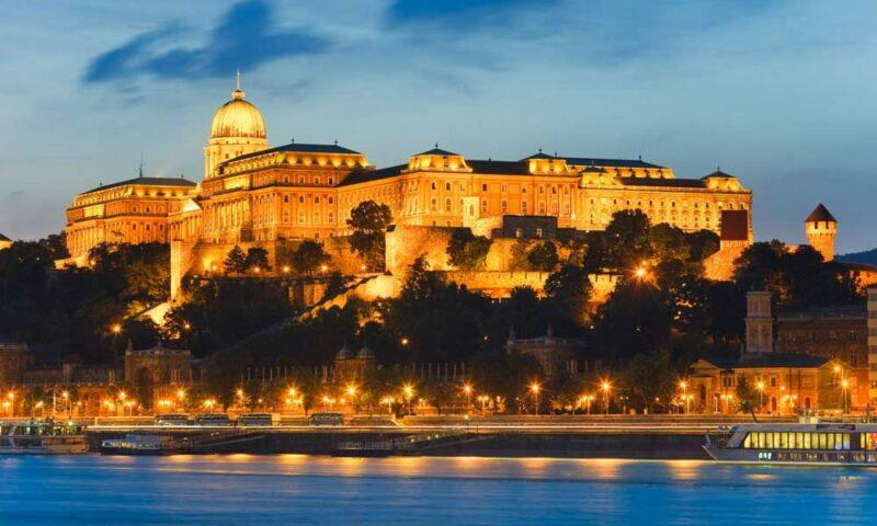 Foto vista aerea Castillo de Buda Budapest