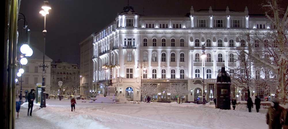 Plaza Vörösmarty en Budapest