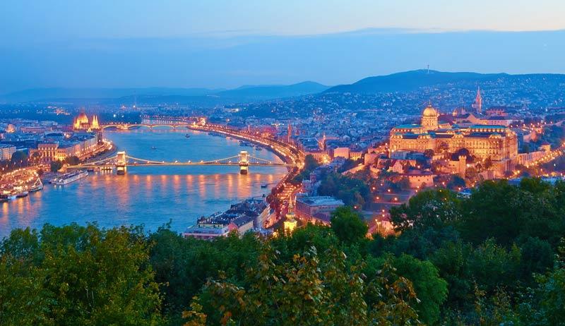 Vista de Budapest desde la Ciudadela